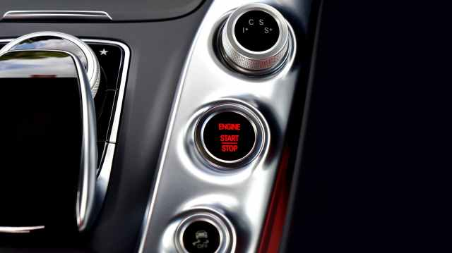 amg gt automobile automotive button